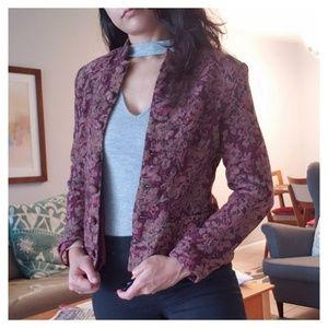 Vintage Casual Corner Tapestry Blazer Jacket